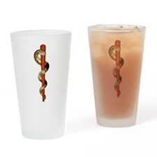 Staff of Aesculapius Drinking Glass