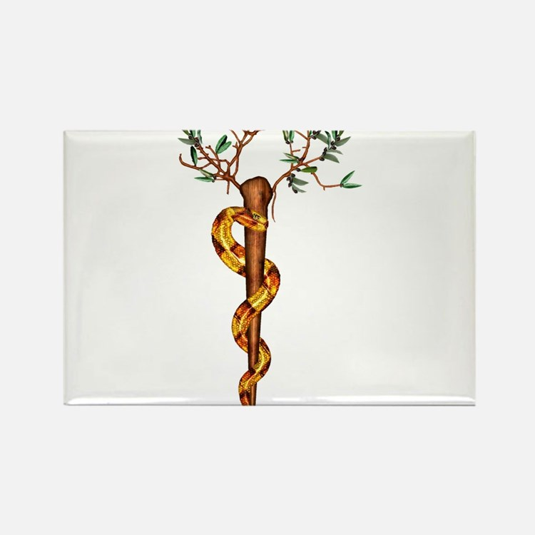 Staff of Aesculapius Rectangle Magnet