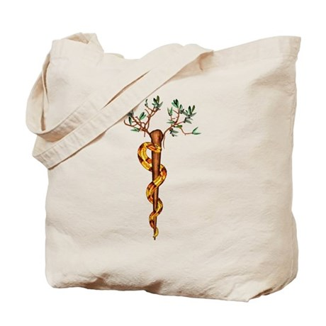 Staff of Aesculapius Tote Bag