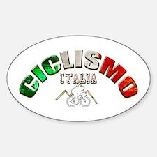 Italy Cycling Sticker (Oval 10 pk)