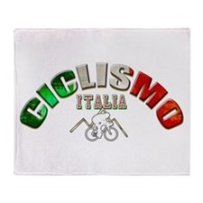 Italy Cycling Throw Blanket
