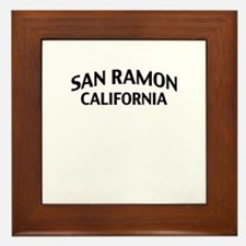 San Ramon California Framed Tile