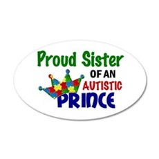 Proud Of My Autistic Prince 22x14 Oval Wall Peel