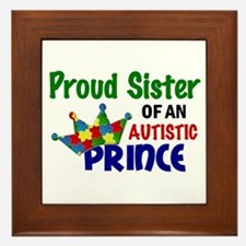 Proud Of My Autistic Prince Framed Tile