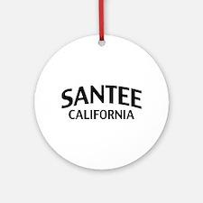 Santee California Ornament (Round)