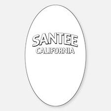 Santee California Sticker (Oval)