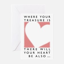 Where your treasure is... Greeting Cards (Package