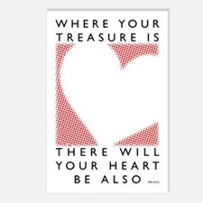 Where your treasure is... Postcards (Package of 8)