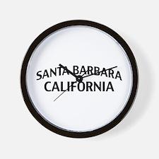 Santa Barbara California Wall Clock