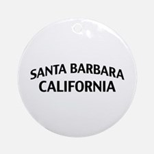 Santa Barbara California Ornament (Round)