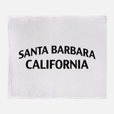 Santa Barbara California Throw Blanket