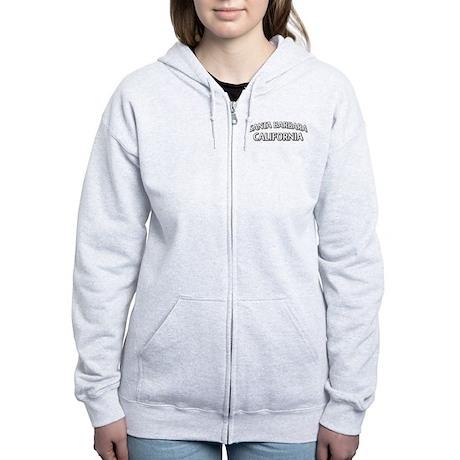 Santa Barbara California Women's Zip Hoodie