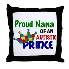 Proud Of My Autistic Prince Throw Pillow