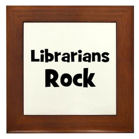LIBRARIANS Rock Framed Tile