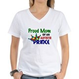 Autism son Womens V-Neck T-shirts