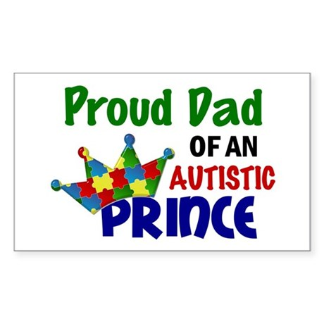 Proud Of My Autistic Prince Sticker (Rectangle)