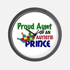 Proud Of My Autistic Prince Wall Clock