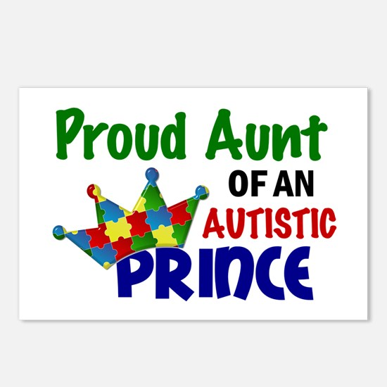 Proud Of My Autistic Prince Postcards (Package of