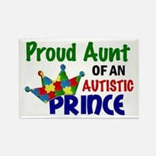 Proud Of My Autistic Prince Rectangle Magnet (10 p