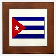 Cuban Flag Framed Tile