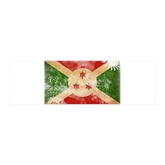 Burundi Flag 21x7 Wall Peel