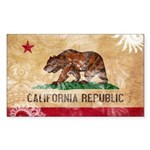 California Flag Sticker (Rectangle 50 pk)