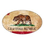 California Flag Sticker (Oval 10 pk)