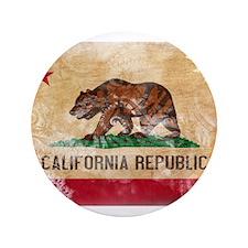 """California Flag 3.5"""" Button"""