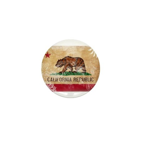 California Flag Mini Button (100 pack)