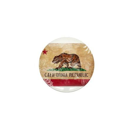 California Flag Mini Button