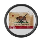 California Flag Large Wall Clock