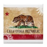 California Flag Tile Coaster
