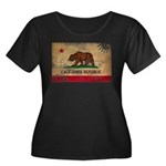 California Flag Women's Plus Size Scoop Neck Dark