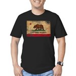 California Flag Men's Fitted T-Shirt (dark)
