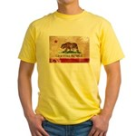 California Flag Yellow T-Shirt