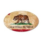 California Flag 22x14 Oval Wall Peel