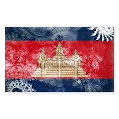 Cambodia Flag Decal