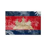 Cambodia Flag Rectangle Magnet
