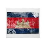 Cambodia Flag Throw Blanket