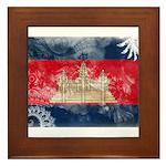 Cambodia Flag Framed Tile