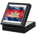 Cambodia Flag Keepsake Box