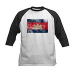 Cambodia Flag Kids Baseball Jersey