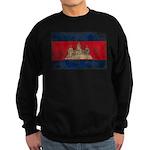 Cambodia Flag Sweatshirt (dark)
