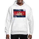 Cambodia Flag Hooded Sweatshirt