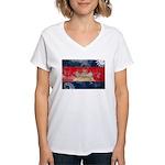 Cambodia Flag Women's V-Neck T-Shirt