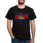 Cambodia Flag Dark T-Shirt