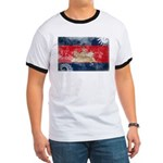Cambodia Flag Ringer T