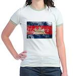 Cambodia Flag Jr. Ringer T-Shirt