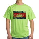 Cambodia Flag Green T-Shirt