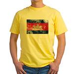 Cambodia Flag Yellow T-Shirt